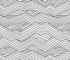 For cabinets, dresser: Jagged mountains fabric by spacefem on Spoonflower - custom fabric