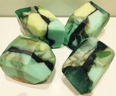 Handmade Gemstone Soap Rock~Unique Gift Soap~Large Jade SoapRock 170g+ | eBay
