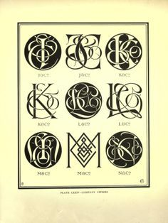 intertwined monogram styles victorian - Google Search