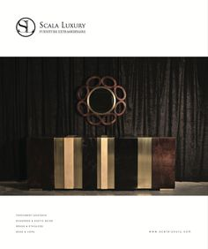 "Scala Luxury's 96"" of High-Gloss Goatskin and Brass - Awesome!"