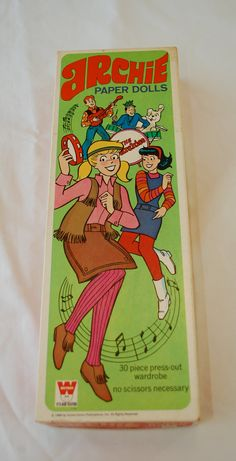 Vintage ARCHIE paper dolls in box 1969 Whitman USA