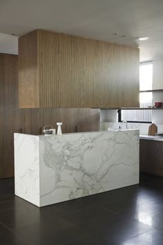I find this kitchen warm even if the forms are minimal and squared | The Design Chaser: Genesin Studio & Moodboards