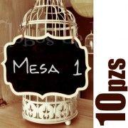 Pizarrones para colgar / Set de 10 - Globos de Luz   Artículos y detalles para bodas y eventos   Ideas originales para fiestasGlobos de Luz