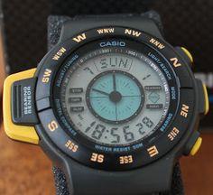 Casio CPW-100 Casio Vintage Watch, Casio Watch, Vintage Watches, Nerd Chic, The Last Laugh, Watches For Men, Men's Watches, G Shock, Digital Watch