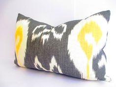 Lumbar Pillow Cover GRAY lumbar pillow ikat by CityGirlsDecor, $49.00
