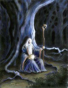 merlin the wizard Fantasy World, Fantasy Art, Roi Arthur, King Arthur, Mists Of Avalon, Fantasy Wizard, Gandalf, Medieval Fantasy, Archetypes