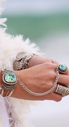 Abalone Chain Cuff
