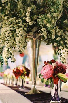 tall and short centerpieces - so pretty! ~ we ❤ this! moncheribridals.com #weddingcenterpiece