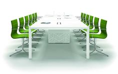 These chic, comfortable green conference chairs will brighten up any conference  or board room. Add a touch of personality and flair to your standard meeting space.