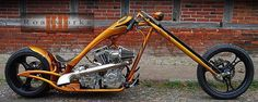 HPU Habermann S&S Custom Chopper Highnecker with Springer fork and Steel City United Exhaust and no Harley Davidson parts