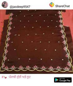 Salwar Suit Neck Designs, Neck Designs For Suits, Dress Neck Designs, Sleeve Designs, Cutwork Embroidery, Embroidery Patterns, Machine Embroidery, Embroidery Suits Punjabi, Embroidery Suits Design
