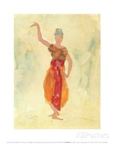 Cambodian Dancer By Auguste Rodin: Category: Art Currency: GBP Price: Retail Price: European Impressionism Neutral Yellow… Auguste Rodin, Dancer Drawing, Life Drawing, Rodin Drawing, The Kiss, Sculpture Head, Camille Claudel, Poster Prints, Art Prints