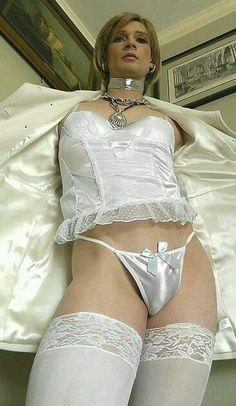 Crossdresser wearing lingerie