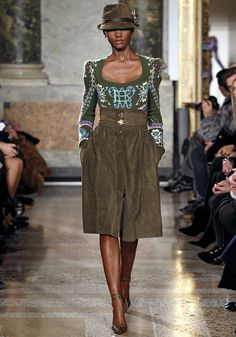 Emilio Pucci F/W 2011. Different, but yes, you can do it #traditional #Fashion