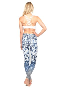 Daisy Blue Standard Waist Printed Active & Yoga Legging - Full Length