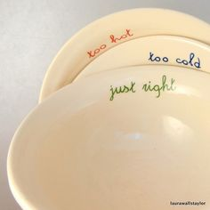 My grandma would have loved these! Goldilocks bowls $85.00