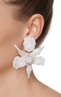 Crystal Lily Earrings by LELE SADOUGHI Now Available on Moda Operandi