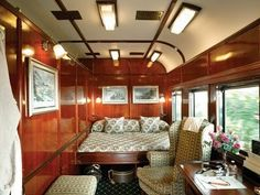 luxurious train carriage in Africa