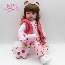 NPK bebe reborn muñeca 47 cm silicona suave renacido bebé muñecas com  cuerpo de silicona menina 266d7c380972