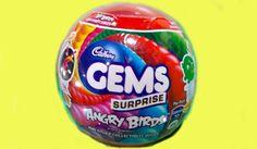 Cadbury Gems Surprise Balls Inside Gem ball Angry Birds. Children Video.