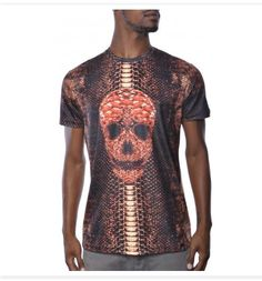Hudson Snake Skin Skull Sublimated Tee Shirt - $37.50 Another great looking urban t-Shirts that features: Classic Crew Neck Slight Ribbed Neck Line All Over Sublimated Graphic Print Small Logo Tag on the Bottom Left Hem Logo Print Inside with Wash Instructions Fresh, Durable   http://topstreetwearclothingbrands.com/urban-t-shirts/ #urban shirts #urban t shirt #urban t shirt design #cool urban t shirt #hip hop graphic tees
