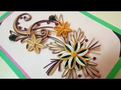 ☑️How to Make Beautiful Quilling Flowers -Birthday Gift Greeting Card Step by Step❤PaperQuilling Art - YouTube
