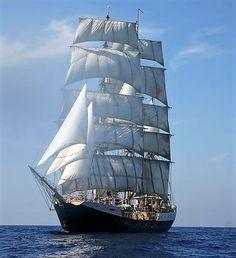"""Gunilla"" Sweden's largest sail training vessel."