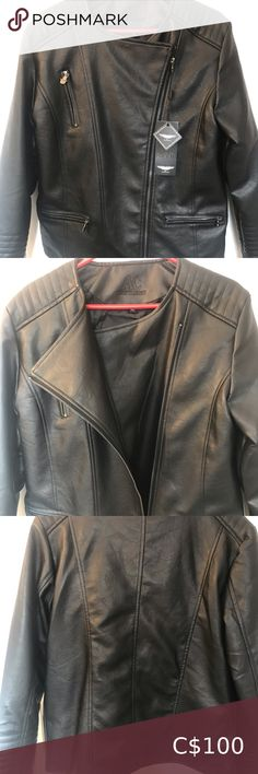 New Ac Luxury women's leather jacket Motorcycle style jacket is brand new with tags and is a size xl Ac luxury Jackets & Coats Utility Jackets Motorcycle Style, Utility Jacket, Plus Fashion, Fashion Trends, Blazers, Jackets For Women, Leather Jacket, Brand New, Coats