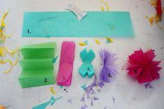 DIY - kinoko: Flowers of tissue paper