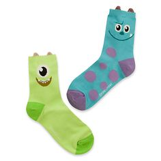 """Socks Gone Cute with New D-Style Collection Recently the Disney Store unveiled """"D/Style"""" a new curated collection of stylish Disney items from Japan. With this collection has come tons of cute new socks! Funky Socks, Crazy Socks, Cute Socks, Awesome Socks, Disney Collection, Mike And Sulley, Kids Socks, Happy Socks, Disney Merchandise"""