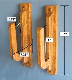 Surfboard Wall Rack | Premium Hardwood