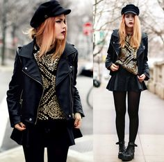 1. JACKET, CHICWISH, HTTP://WWW.SHAREASALE.COM/R.CFM?B=292841U=560599M=31764URLLINK=AFFTRACK=  2. CAP, CHOIES, HTTP://WWW.CHOIES.COM/PRODUCT/BLACK-AND-NAVY-CAP  3. SWEATSHIRT, CHOIES, WWW.CHOIES.COM  4. BOOTS, TO BE ANNOUNCED, HTTP://BIT.LY/12CC0PJ