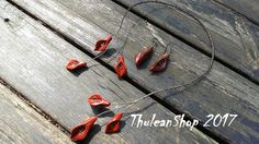 Torque necklace set Black Iron and Red Jasper Calla Lily Open