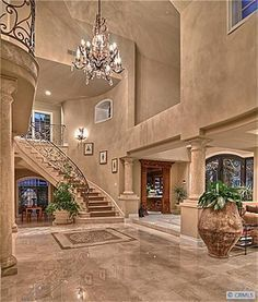 How to make an entrance! Anaheim Hills Ca. How to make an entrance! Dream Home Design, Modern House Design, My Dream Home, Home Interior Design, Mansion Interior, Luxury Homes Dream Houses, Staircase Design, Elegant Homes, House Goals