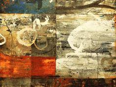 "Bill Gingles, Vagabond Groove, 2014, Acrylic on canvas, 30"" x 40""  www.billgingles.net"