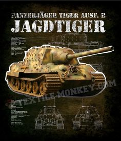 "Jagdtiger (""Hunting Tiger"") is the common name of a German heavy tank destroyer of World War II. The official German designation was Panzerjäger Tiger Ausf. B as it was based on a lengthened Tiger II chassis. The ordnance inventory designation was Sd. Kfz. 186. The 71-tonne Jagdtiger was the heaviest armored fighting vehicle used operationally during World War II and is the heaviest armored vehicle of any type to achieve series production."