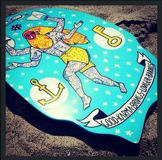 Epic SLYDE Art handboard by artist Filippo Fiumani  www.slydehandboards.com bodysurf bodysurfing handplane