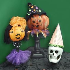 Creepy Candle People, No Muss, No Fuss: Fresh Ways to Use Pumpkin Carving Templates