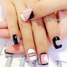 Negative space nails