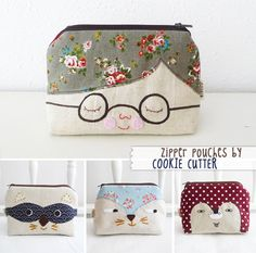 Purses - so cute! Fabric Crafts, Sewing Crafts, Sewing Projects, Patchwork Bags, Quilted Bag, Sewing Tutorials, Sewing Patterns, Bag Tutorials, Purse Patterns