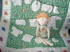 Baby Laundry Mini Quilt Pattern PDF 21 by 24 Wall Hanging Clothesline Onsie Diaper Sleeper Sock. $8.00, via Etsy.