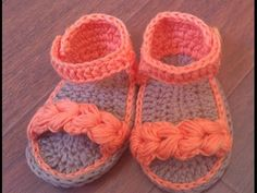 Sandalias de verano para bebé a Crochet - Parte 1 - YouTube baby sandals shoes summer