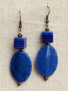 Brincos Cubo Azul - Blue Cube Earrings   Beat Bijou   Elo7