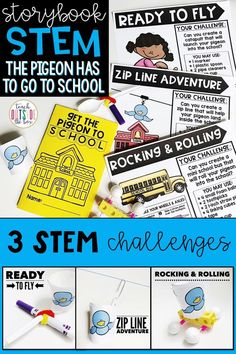 Back to School Storybook STEM activities for The Pigeon HAS to Go to School! By Mo Willems | 3 engaging Elementary STEM Challenges and 6 ELA Lessons | Kindergarten, First Grade, Second Grade