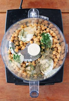This healthy Ranch Hummus combines the flavors of two veggie dip faves in one! A serving is just 73 calories or ZERO Weight Watchers Freestyle SmartPoints! www.emilybites.com