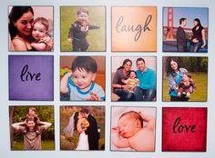 Large Family Photo Wall Display