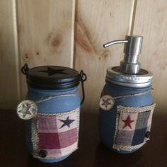 Mason jar soap dispenser/tissue holder/ by oldglorycandlecrafts