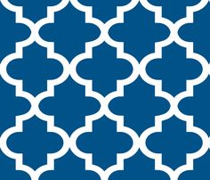 Quatrefoil Navy fabric by honey on Spoonflower - custom fabric: Great pattern for an upholstered chair