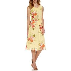 55cdd609f85 R   K Originals Sleeveless Floral Fit   Flare Dress - JCPenney
