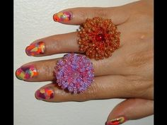 Handmade Jewelry: Coral Flower Ring, My Crafts and DIY Projects